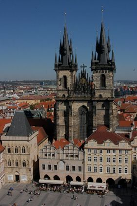 Church of Our Lady in the Tyn from the Astronomical Clock Tower