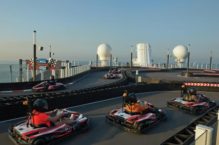 NCL Bliss race track